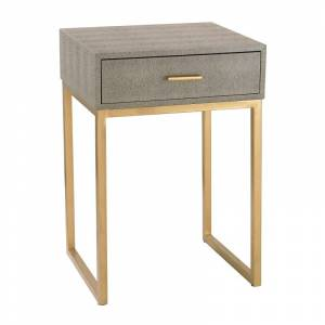 Elk Home 180-010 Shagreen Side Table in Grey Grey Indoor Furniture Tables Accent