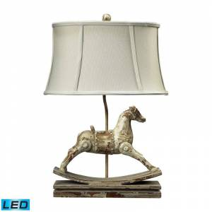 Elk Home 93-9161-LED Rocking Horse 1 Light LED Accent Table Lamp from the Carnavale Collection Clancey Court Lamps Table Lamps