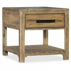 """Hooker Furniture 1618-80114 Roslyn County 29-1/2"""" Wide Pecan and Poplar End Table from the American Life Collection Medium Pecan Indoor Furniture  - Medium Pecan"""