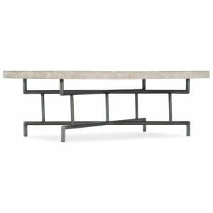 """Hooker Furniture 5560-80110-L 5560-80 48"""" Wide Mango Wood Top Iron Coffee Table White Washed Light Wood Indoor Furniture Tables Coffee  - White Washed Light Wood"""