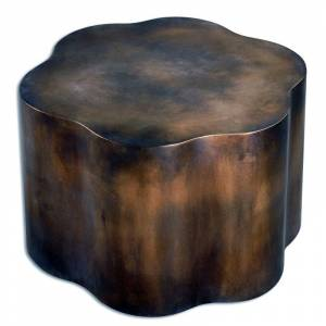 """Uttermost 24445 Sameya 18"""" x 26"""" Accent Table Oxidized Copper Indoor Furniture Tables Accent"""