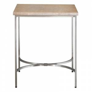 """Uttermost 25459 Drummond 22"""" Wide Causal Side Table with Oak Burl Veneer by Matthew Williams Natural Burl Indoor Furniture Tables Accent  - Natural Burl"""