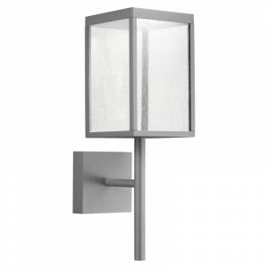 """Access Lighting 20081LED Reveal 22"""" Tall LED Outdoor Wall Sconce - 3000K Satin Gray / Seeded Outdoor Lighting Wall Sconces"""