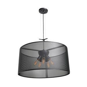 "Access Lighting 50928LEDDLP Epic 5 Light 23-5/8"" Wide LED Drum Chandelier Black Indoor Lighting Chandeliers"