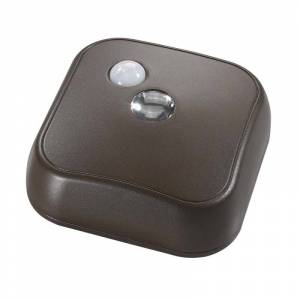 Acclaim Lighting B100 Battery Operated LED Under Cabinet Puck Light with Motion Sensor Bronze Indoor Lighting Under Cabinet Puck and Button Lights
