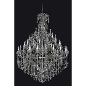 "Allegri 023450 Brahms 66 Light 69-1/2"" Wide Crystal Chandelier Chrome / Smoked Fleet Argentine Firenze Indoor Lighting Chandeliers"