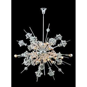 "Allegri 11638 Constellation 46 Light 92"" Wide Crystal Sputnik Chandelier Chrome with Clear Crystals Indoor Lighting Chandeliers  - Chrome with Clear Crystals"