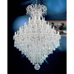 "Classic Lighting 8187-CH 88"" Crystal Traditional Chandelier from the Maria Thersea Collection Swarovski Strass Indoor Lighting Chandeliers  - Swarovski Strass"