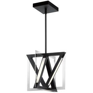 "Elan 84083 Axis 12"" LED Pendant Matte Black / Chrome Indoor Lighting Pendants"