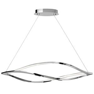 Elan Meridian Large Linear Chandelier Meridian Large Linear Chandelier Chrome Indoor Lighting Chandeliers