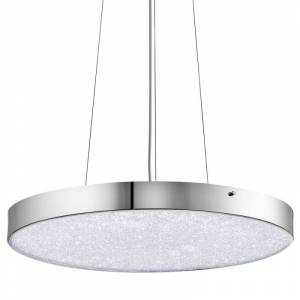 Elan Crystal Moon Pendant Crystal Moon LED Pendant Chrome Indoor Lighting Pendants