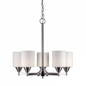 "Forte Lighting 2643-05 5 Light 21"" Wide Chandelier Brushed Nickel Indoor Lighting Chandeliers  - Brushed Nickel"