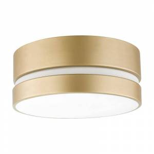 "Globe Electric 60754 Novogratz 12"" Wide Flush Mount Ceiling Fixture Soft Gold Indoor Lighting Ceiling Fixtures Flush Mount  - Soft Gold"