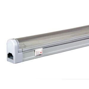 "Jesco Lighting SG4-16SW/30 110"" Fluorescent Sleek Plus Grounded T4 Adjustable Linkable Under Cabinet Light - 3000K White Indoor Lighting Under Cabinet  - White"