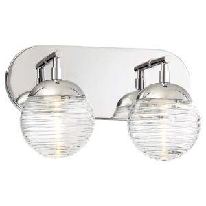 "Kovacs P5272-613-L Vemo 2 Light 12"" Wide Integrated LED Vanity Light Polished Nickel Indoor Lighting Bathroom Fixtures Vanity Light  - Polished Nickel"