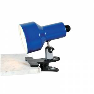 Lite Source LS-114 Clip-On II 1 Light Clamp On Lamp Blue Lamps Desk Lamps Clamp-On Lamps