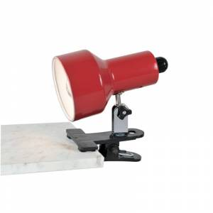Lite Source LS-114 Clip-On II 1 Light Clamp On Lamp Red Lamps Desk Lamps Clamp-On Lamps