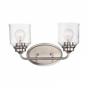 """Maxim 12262CD Acadia 2 Light 15"""" Wide Bathroom Vanity Light Satin Nickel Indoor Lighting Bathroom Fixtures Vanity Light"""