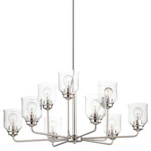 """Maxim 12277CD Acadia 9 Light 35"""" Wide Chandelier Satin Nickel Indoor Lighting Chandeliers"""