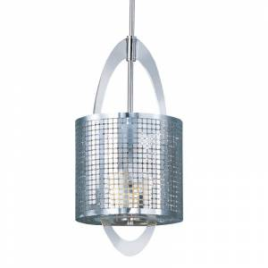 """Maxim 92300 1 Light 8"""" Wide Pendant from the Mirage Collection Polished Nickel Indoor Lighting Pendants"""