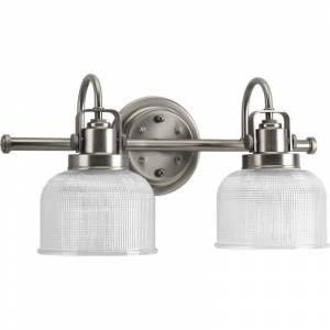 "Progress Lighting P2991 Archie 2 Light 17"" Wide Bathroom Vanity Light Antique Nickel Indoor Lighting Bathroom Fixtures Vanity Light"