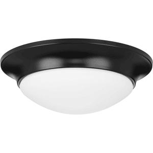 """Progress Lighting P350146 12"""" Wide Flush Mount Bowl Ceiling Fixture Black Indoor Lighting Ceiling Fixtures Flush Mount"""