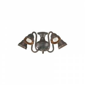 Quorum International 2530 5 Light Kit for Ceiling Fans with Curved Arms Toasted Sienna Ceiling Fan Accessories Light Kits Light Kits  - Toasted Sienna