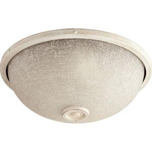Quorum International Q1395 Marsden Bowl Shaped Light Kit for Outdoor Patio Fan Persian White Ceiling Fan Accessories Light Kits Light Kits  - Persian White