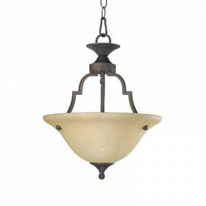 Quorum International 215 Two Light Dual Mount Ceiling Fixture from the Coventry Collection Toasted Sienna Indoor Lighting Ceiling Fixtures Semi-Flush  - Toasted Sienna