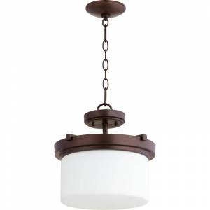 """Quorum International 2917-13 Lancaster 2 Light 13"""" Wide Pendant Oiled Bronze Indoor Lighting Pendants  - Oiled Bronze"""
