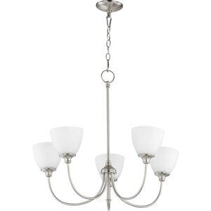 """Quorum International 6109-5 Celeste 5 Light 27"""" Wide Chandelier Satin Nickel Indoor Lighting Chandeliers"""