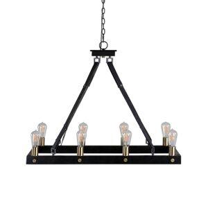 """Uttermost 21279 Marlow 8 Light 37"""" Wide Chandelier Antique Bronze Indoor Lighting Chandeliers"""