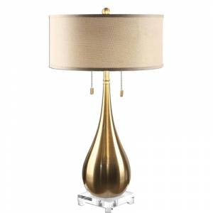 """Uttermost 27048 Lagrima Accent Table Lamp 31"""" in Height Designed by Jim Parsons Brushed Brass Lamps Table Lamps Accent Lamps"""