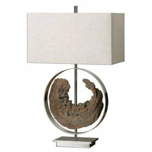 "Uttermost 27072 Ambler Accent Table Lamp 29.25"" in Height Designed by David Frisch Polished Nickel Lamps Table Lamps Accent Lamps"