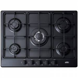 Summit GC527 27 Inch Wide Built-In Gas Cooktop with Sealed Sabaf Burners and Dual Flame Burner Black Cooktops Cooktop Gas  - Black