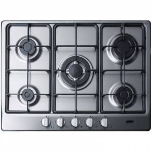 Summit GC527 27 Inch Wide Built-In Gas Cooktop with Sealed Sabaf Burners and Dual Flame Burner Stainless Steel Cooktops Cooktop Gas  - Stainless Steel