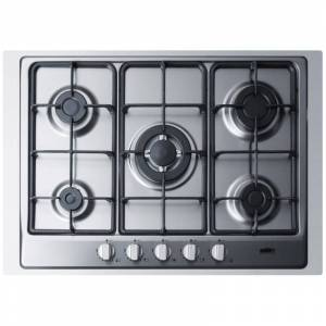 Summit GC527TK 30 Inch Wide Built-In Gas Cooktop with Sealed Sabaf Burners Dual Flame Burner and Trim Stainless Steel Cooktops Cooktop Gas  - Stainless Steel