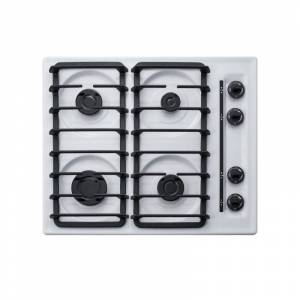 Summit WTL033S 24 Inch Wide 4 Burner Gas Cooktop White Cooktops Cooktop Gas  - White