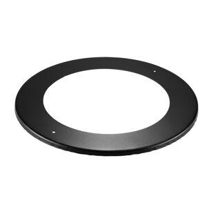 "DuraVent 8DBK-TC 8"" DuraBlack Stove Pipe - Single Wall - Trim Collar Black Vent Pipe Stove Pipe Trim  - Black"