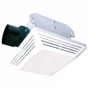 Air King ASLC50 50 CFM 3 Sone Ceiling Mounted Exhaust Fan with Light Socket White Exhaust Fans Bath Fans Combination  - White