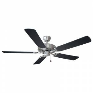 """Design House 154146 Transitional 52"""" Ceiling Fan in Satin Nickel Finish and Ligh Satin Nickel Fans Ceiling Fans Indoor Ceiling Fans"""