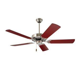 "Emerson Builder 52 Builder 52"" 5 Blade Indoor Ceiling Fan Brushed Steel Fans Ceiling Fans Indoor Ceiling Fans"