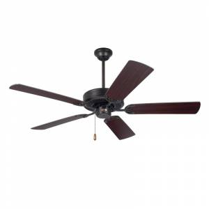"Emerson Builder 52 Builder 52"" 5 Blade Indoor Ceiling Fan Oil Rubbed Bronze Fans Ceiling Fans Indoor Ceiling Fans"
