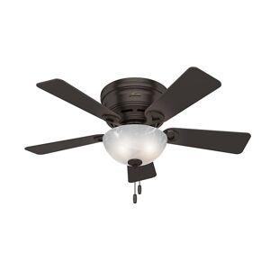 """Hunter Haskell 42 Haskell 42"""" 5 Blade Hugger Ceiling Fan with LED Light Kit Premier Bronze Fans Ceiling Fans Indoor Ceiling Fans"""
