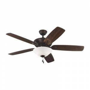 """Monte Carlo Colony Max Plus Colony 52"""" 5 Blade Indoor Ceiling Fan - Light Kit and Blades Included Roman Bronze Fans Ceiling Fans Indoor Ceiling Fans  - Roman Bronze"""
