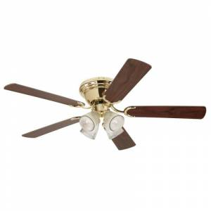"""Westinghouse 7216500 Contempra IV 52"""" 5 Blade Hugger Indoor DC Ceiling Fan Polished Brass Fans Ceiling Fans Indoor Ceiling Fans  - Polished Brass"""