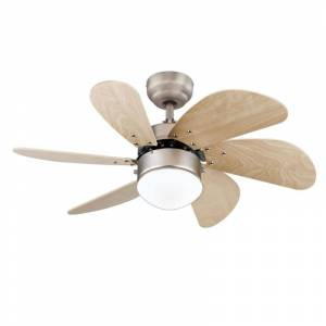 """Westinghouse 7224000 Turbo Swirl 30"""" 6 Blade Indoor LED Ceiling Fan with Wall Control Brushed Aluminum Fans Ceiling Fans Indoor Ceiling Fans  - Brushed Aluminum"""