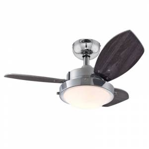 """Westinghouse 7224100 Wengue 30"""" 3 Blade Indoor LED Ceiling Fan with Wall Control Chrome Fans Ceiling Fans Indoor Ceiling Fans  - Chrome"""