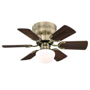 "Westinghouse 7230700 Petite 30"" 6 Blade LED Ceiling Fan Antique Brass Fans Ceiling Fans Indoor Ceiling Fans  - Antique Brass"
