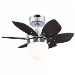 """Westinghouse 7864400 Origami 24"""" 6 Blade Hanging Indoor Ceiling Fan with Reversible Motor Blades Light Kit and Down Rod Included Chrome Fans  - Chrome"""